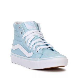 Vans sk8 hi slim baby blue sz 8.5 unisex sneakers